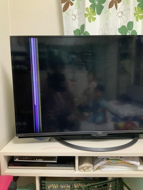 テレビ破損