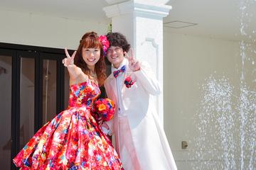 新婦から新郎へびっくりサプライズ!夏色WEDDING♡