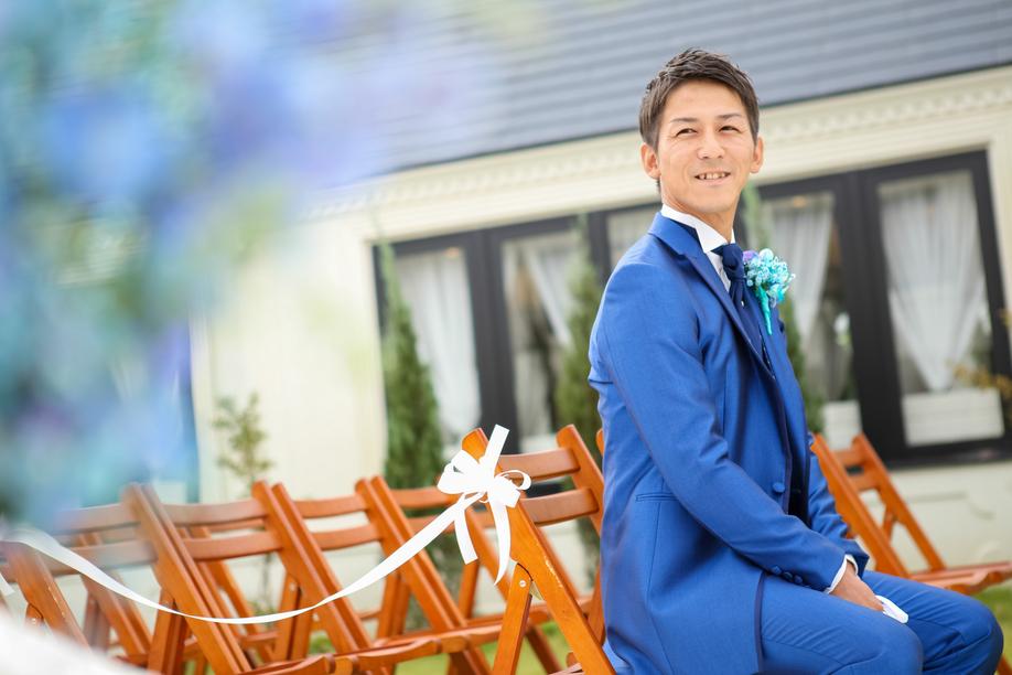 テーマカラーはブルーで☆笑顔溢れるガーデンウエディング