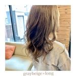 gray beige×long style♪