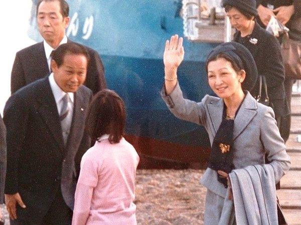 現上皇后美智子様のご乗船時の様子(昭和55年)