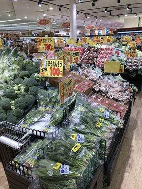 野菜の売り場は色とりどり