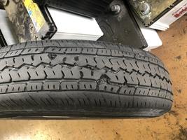 タイヤ交換 タイヤ変形 整備 修理 摂津