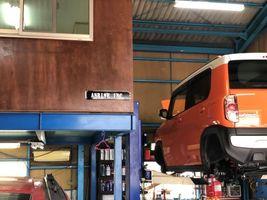 フレア クロスオーバー 中古車 リフトアップ 車検 点検 整備 摂津