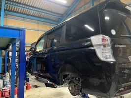 ステップワゴン 車検 点検 整備 摂津 ドアミラー格納修理