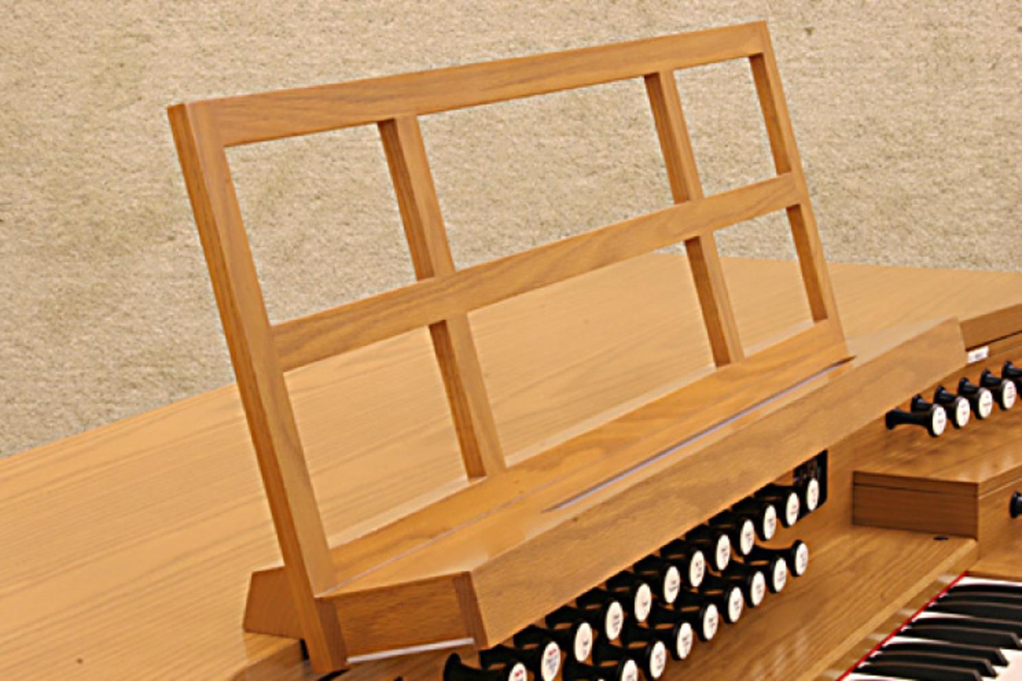 木製ラティス譜面台