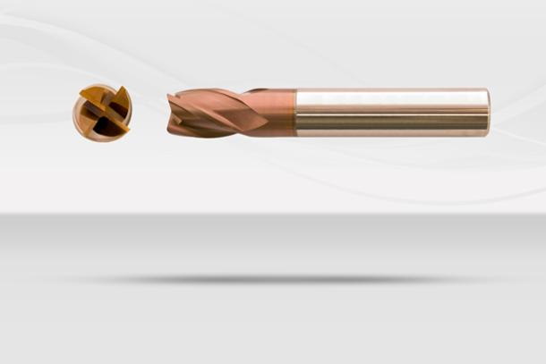【超硬エンドミル】ダイナエンドミル 多機能型超硬4枚刃ネック付き コーナーラジアス(No.DYNA040)1