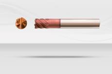 【超硬エンドミル】ダイナエンドミル 高剛性型・超硬6枚刃 ネック付き・ショート刃《No.DYNA060》