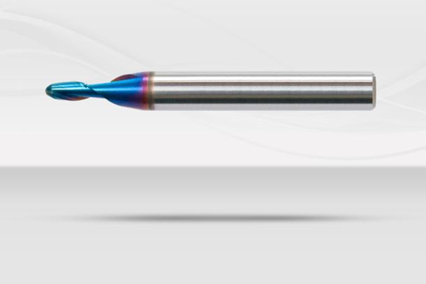 【超硬エンドミル】ナクロエンドミル 超硬ボールエンドミル  2枚刃(No.NACRO 020B)1