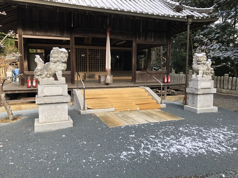 H神社階段工事