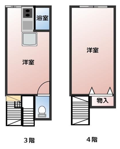 賃貸 姫路 十二所前ビル メゾネット3