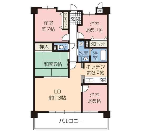 売買 姫路 ロワイヤル北今宿 中古マンション3