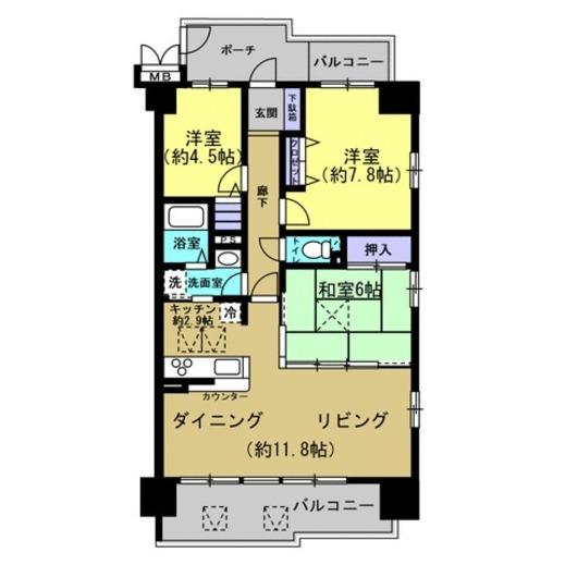 売買 姫路 エンブレイス姫路市役所前 中古マンション3