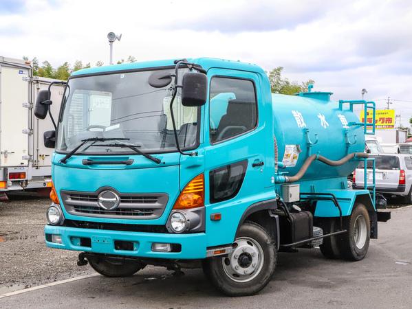 H27年☆4トン/散水車/PTO式/前後散水/容量3900L