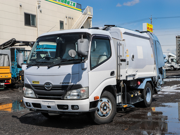 H25年☆4.3立米 プレス式パッカー車 2t 連続スイッチ 塵芥車