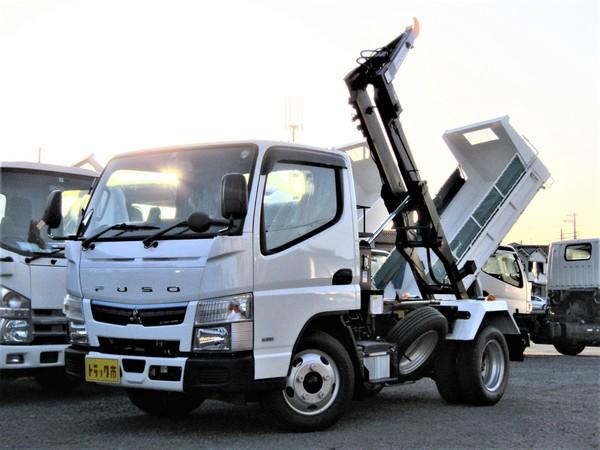 キャンター 脱着装置付コンテナ専用車 極東開発製フックロール 積載量3トン