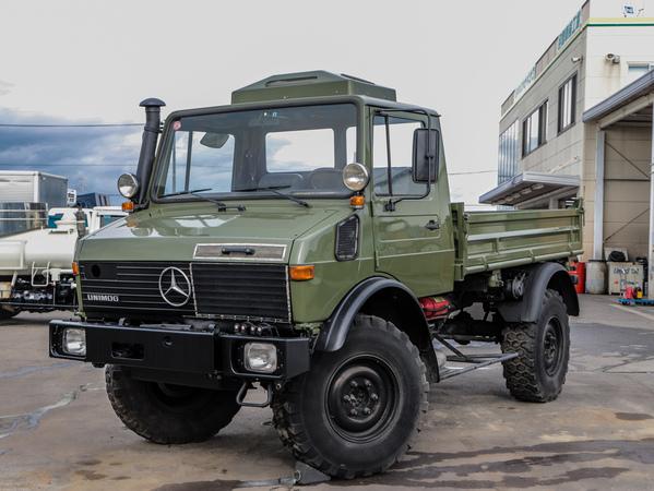 H10年☆ウニモグ U1450 4WD ディーラー車!平ボディ H/L8速
