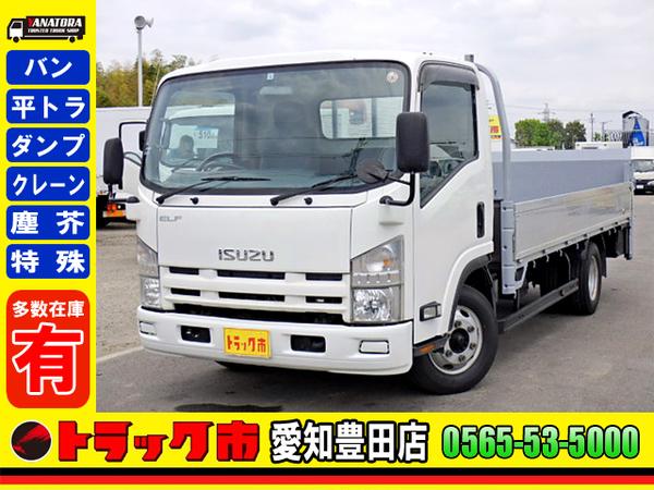 エルフトラック H21年☆平ボディ パワーゲート ワイドロング 床鉄板 2.75t 6MT