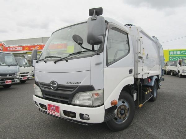 プレス式パッカー車 4.3立米 積載2トン 連続スイッチ ステンレス汚水タンク バックカメラ