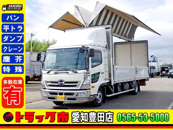 日野 レンジャー アルミウィング 620ワイド エアサス ベット ETC 3t 6MT!