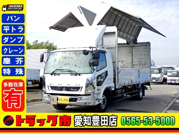 三菱ふそう ファイター 幌ウィング 570ワイド 増トン ベット ETC 8.3t 大型 6MT