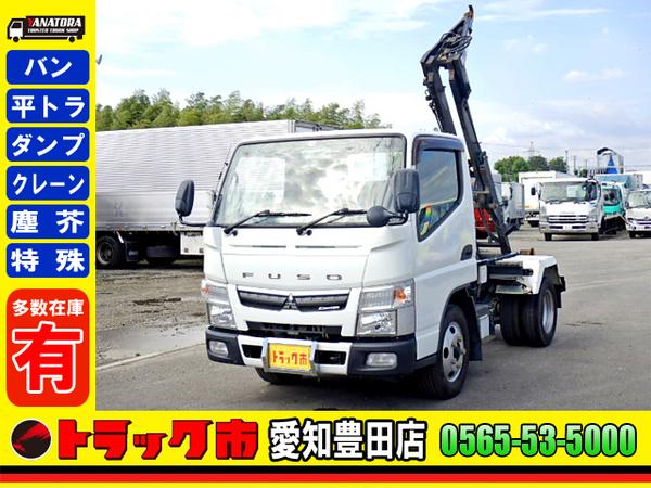 三菱ふそう キャンター 脱着装置コンテナ専用車 フックロール ETC 2t 3人乗 5MT!