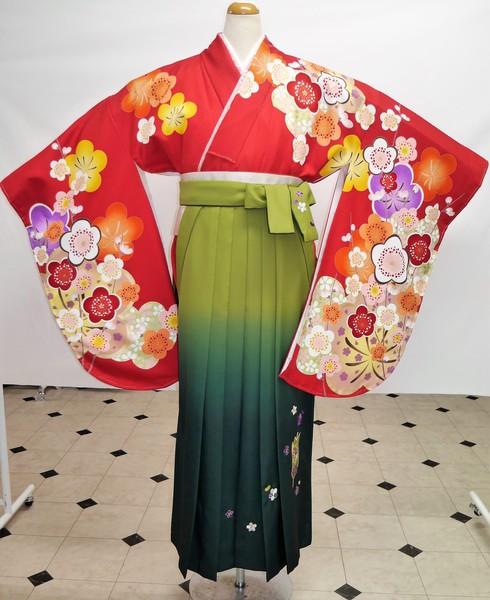 【着物】G-36   【袴】HD-3    袴フルセットレンタル ¥45,000(税別)