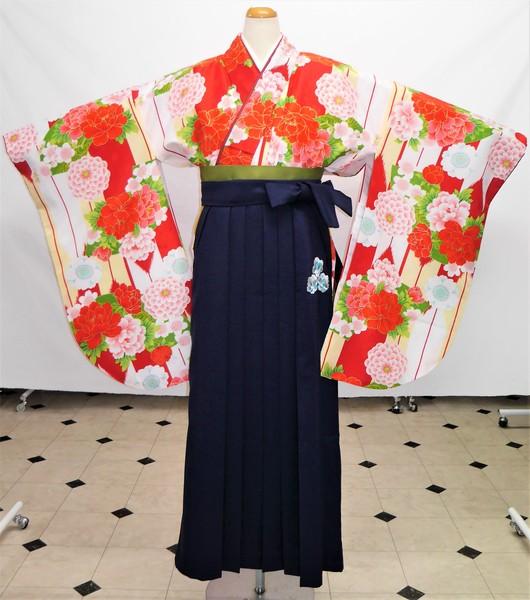 【着物】F-9   【袴】HC-10    袴フルセットレンタル ¥35,000(税別)