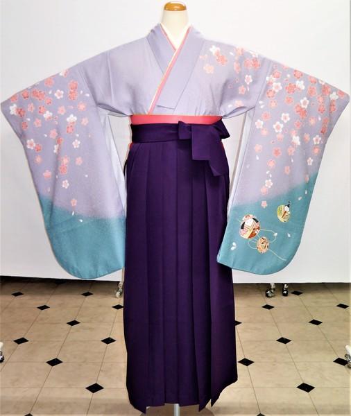 【着物】エE-42  【袴】HA-20    袴フルセットレンタル ¥29,800(税別)