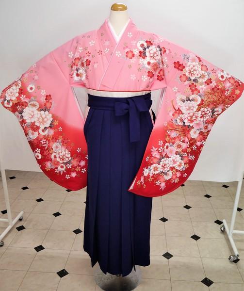 【着物】F-1   【袴】HA-10    袴フルセットレンタル ¥35,000(税別)