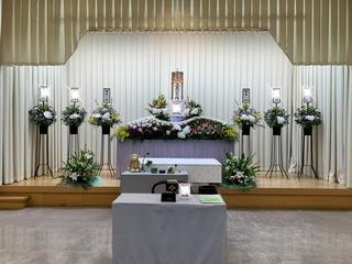 先日のご葬儀 堺市立斎場にて